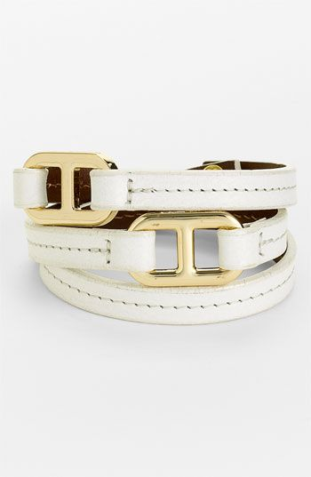 Tory Burch 'Plato' Leather Wrap Bracelet available at Nordstrom