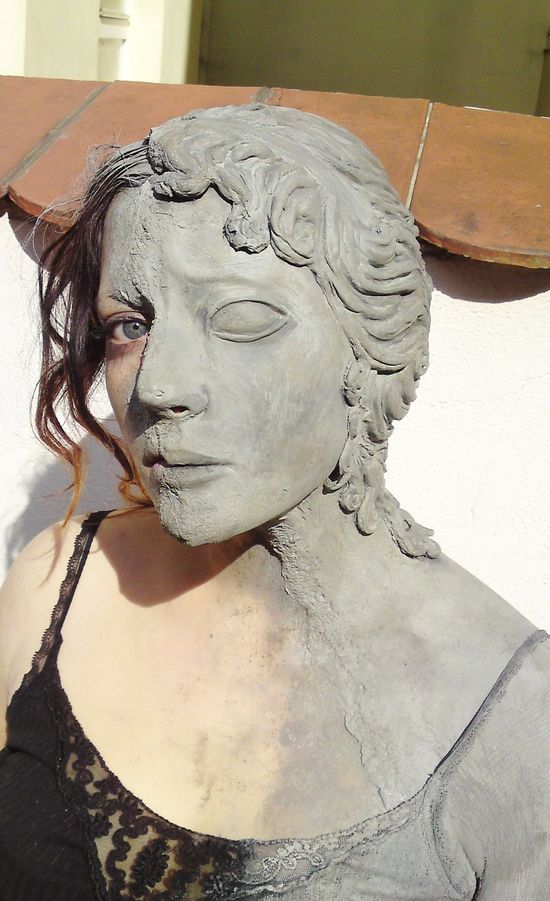 weeping angel makeup face by made-me-a-monster. This is incredibly creepy…it&#