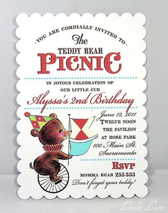 picnic party invites
