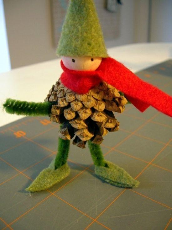 Pommes de pin pour la déco de Noël - 58 idées en photos - Archzine.fr