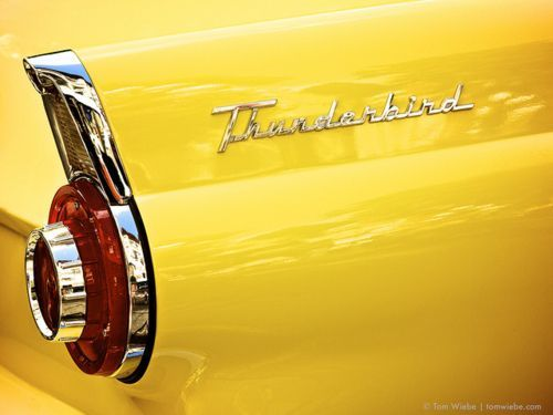yellow car -Yellow Thunderbird
