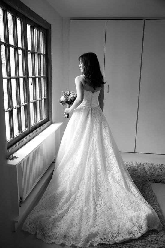 bride in lace /  Katherine Ashdown Photography