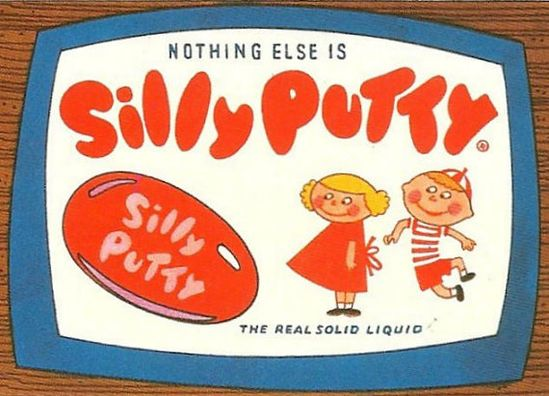 Vintage 1960s Silly Putty Toy Ad Fridge Magnet Retro by Vividiom, $2.50