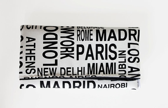 cities!  fold over clutch from MirkaDesign on Etsy