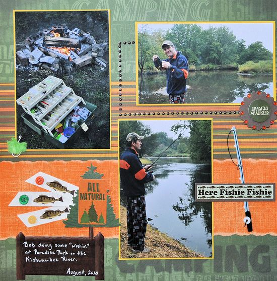 Wishin' For A Fish by scous23 scrapbook layout