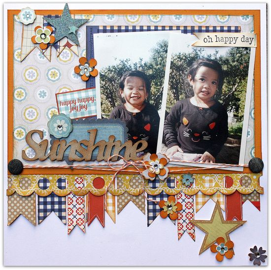 2 Vertical Photos #scrapbook#page#layout