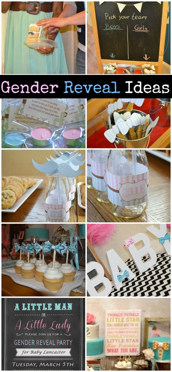 Lots of Gender Reveal party ideas!