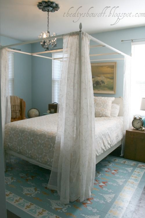 DIY Show Off – Budget Friendly Guest Bedroom Before and After