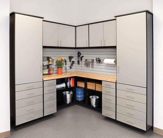 #garage #organization #organize #shelves #housetrends