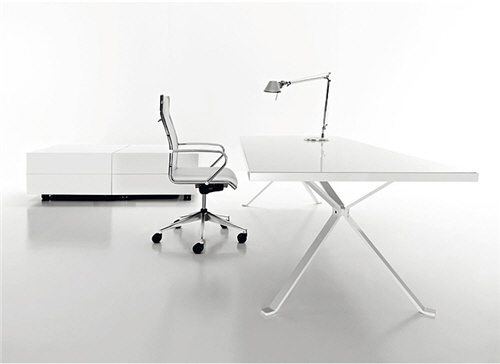 White ultra clean office design