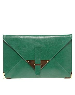 Asos green clutch