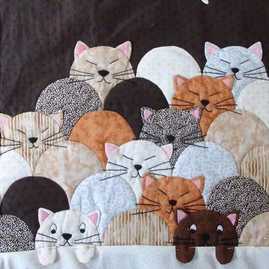Gatinhos de patchwork