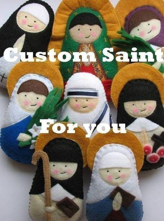 These are so cute!  Custom Saint Feltie