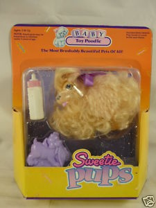 80s Vintage Sweetie Pups Poodle Dog Toy