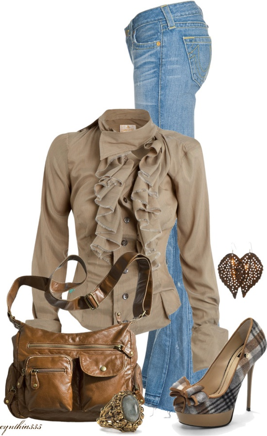 """""""Ruffles and Plaid"""" by cynthia335 on Polyvore"""