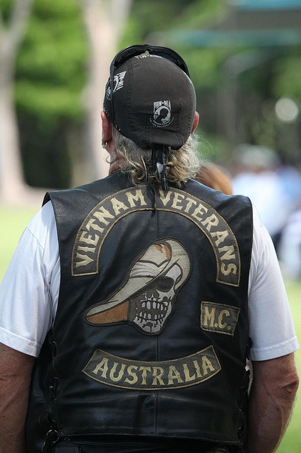 Vietnam Vetrans Motorcycle Club, Armistice Day (also known as Remembrance Day), Darwin, Northern Territory, Australia