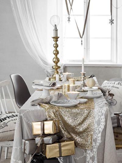 H&M Home kerstcollectie - Feestelijk wit - Feestelijk wit