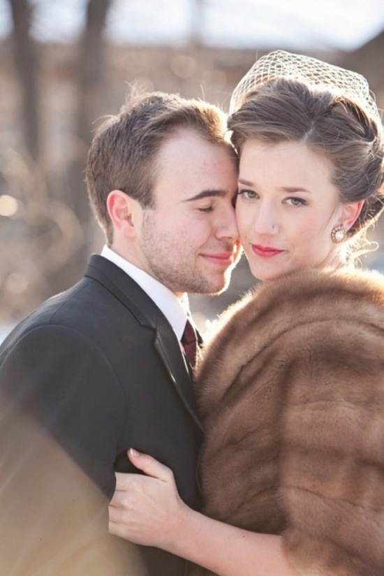 Beautiful Fur Wraps Winter Wedding Inspiring Ideas