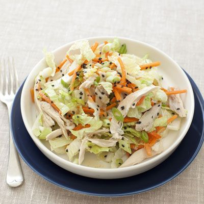 Cat Cora's Chinese Chicken-Cabbage Salad With Peanut Sauce