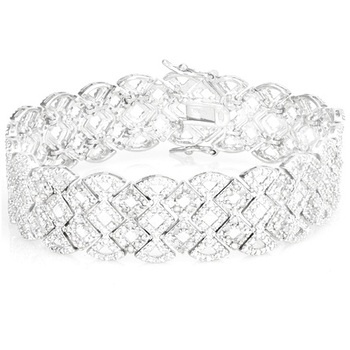 $159.99 – 2 Carat Diamond Lattice Sterling Silver Bracelet