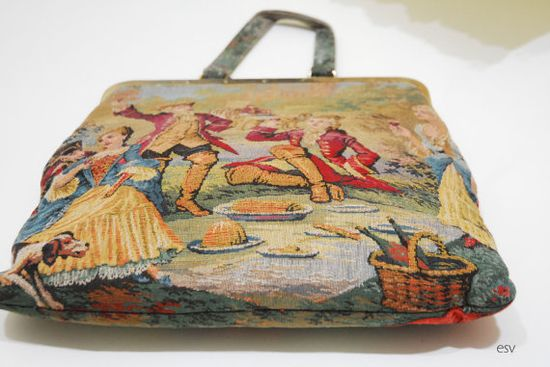 vintage 1960s tapestry handbag by Erstwhile Style,