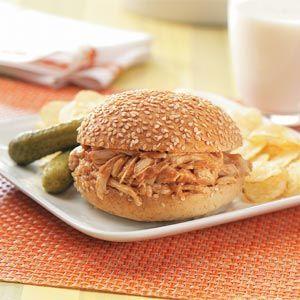 Barbecued Chicken Sandwiches Recipe