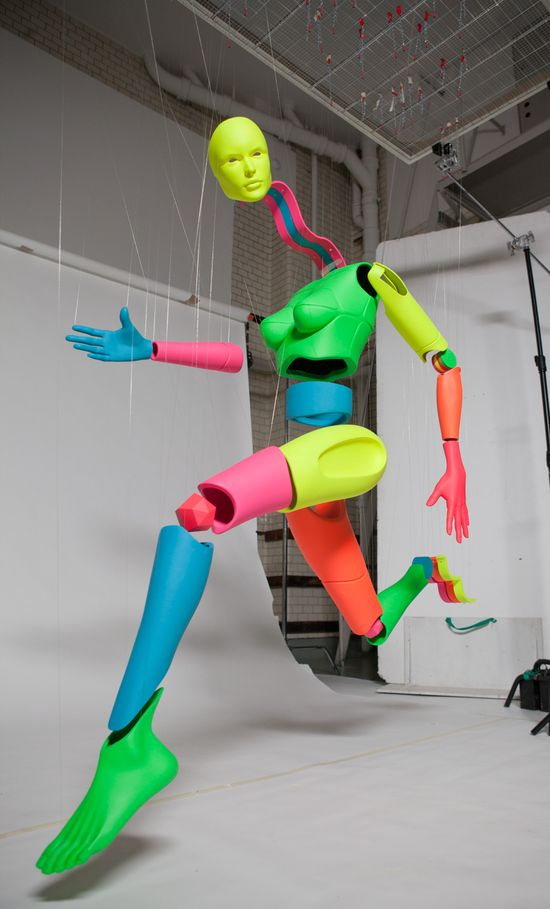 Art installation by Igor Zimmermann for Nike. Created using a 3D printing process.