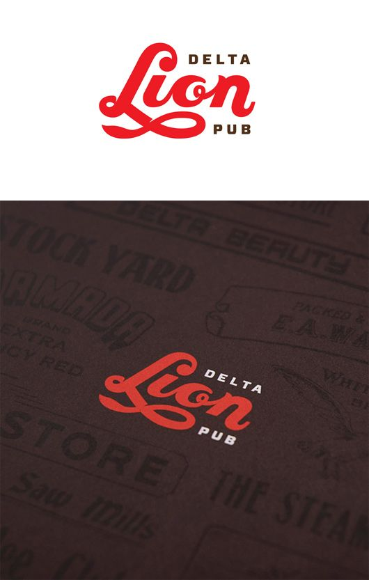 Lion Delta Pub Branding by St Bernadine