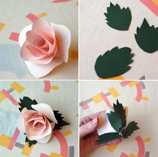 paper roses  Might use these to make 3D cards :)