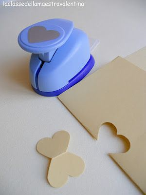 make a butterfly out of a heart paper punch