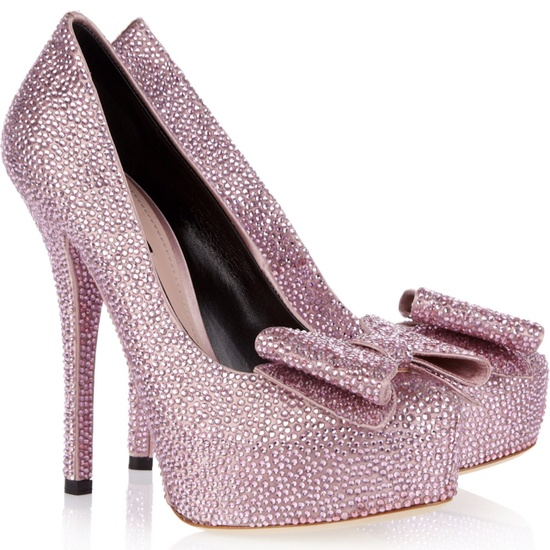 Dolce & Gabbana crystal-embellished pumps.