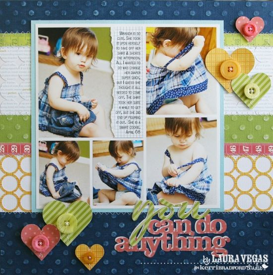 5 pic pattern. you can do anything scrapbooking layout idea