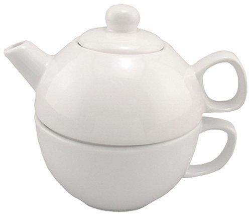BIA Cordon Bleu 12-Ounce Teapot and Cup for One, White by Bia Cordon Bleu. $13.00. Safe in the microwave and dishwasher. Made of glossy all-white porcelain. Flat-bottomed teapot stacks on top of large matching cup. Makes a great gift that matches any décor. 12-ounce teapot and cup set for the tea lover. Amazon.com                With all the latest studies promoting the antioxidant benefits of tea, the gift of a teapot makes healthy sense. This tea-for-one set will make any te...