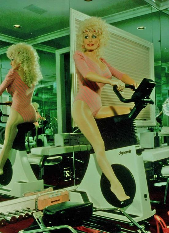 Dolly Parton working out