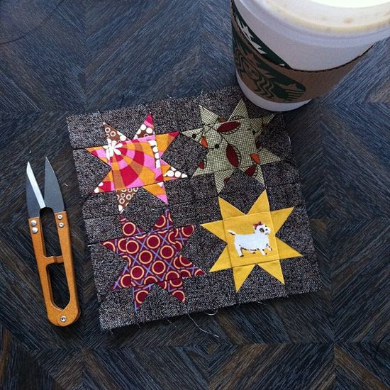 oh my stars - tiny star block - by heyporkchop
