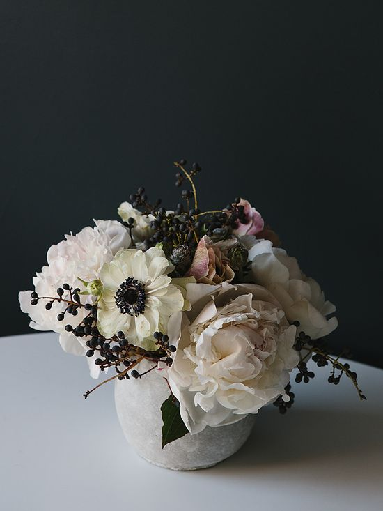garden roses and ranunculus