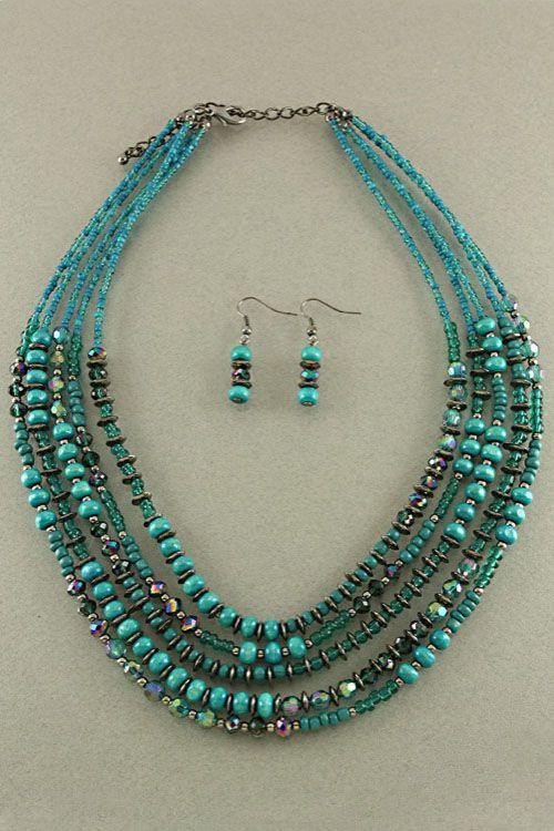 Paris Green Avery Necklace Set