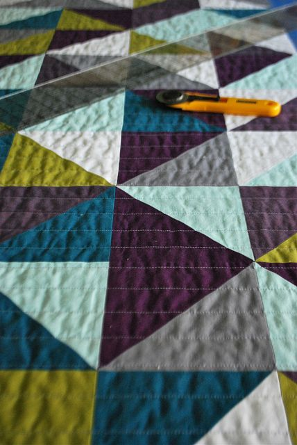 HSTs and straight line quilting