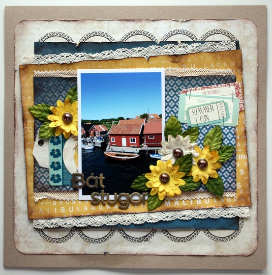 Loving the layers. #scrapbooking #layouts