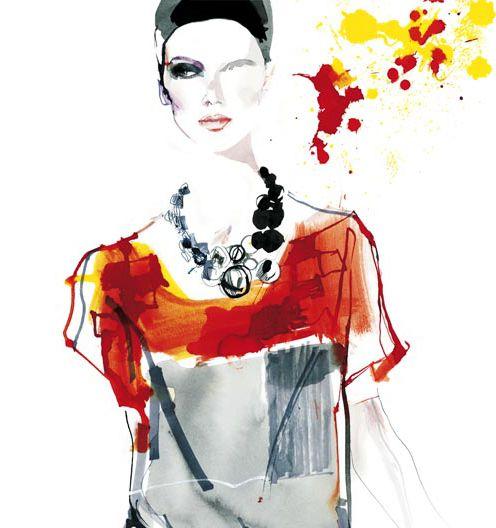 fashion illustration, David Downton