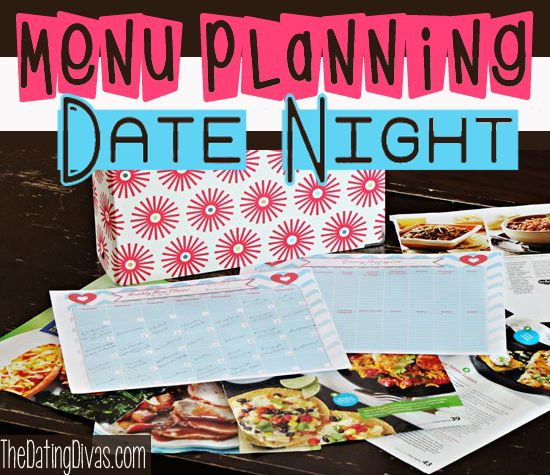 Have a Menu Planning Date Night that is sure to please your spouse! Have fun and get errands done at the same time! www.TheDatingDiva... #date ideas #free printable #creative