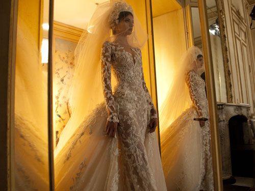 Finale wedding gown from Zuhair Murad.