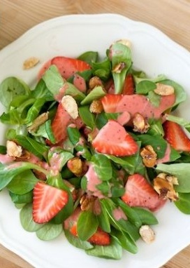 Spring Strawberry Salad with Strawberry Poppy Seed Dressing is a great refreshing salad!