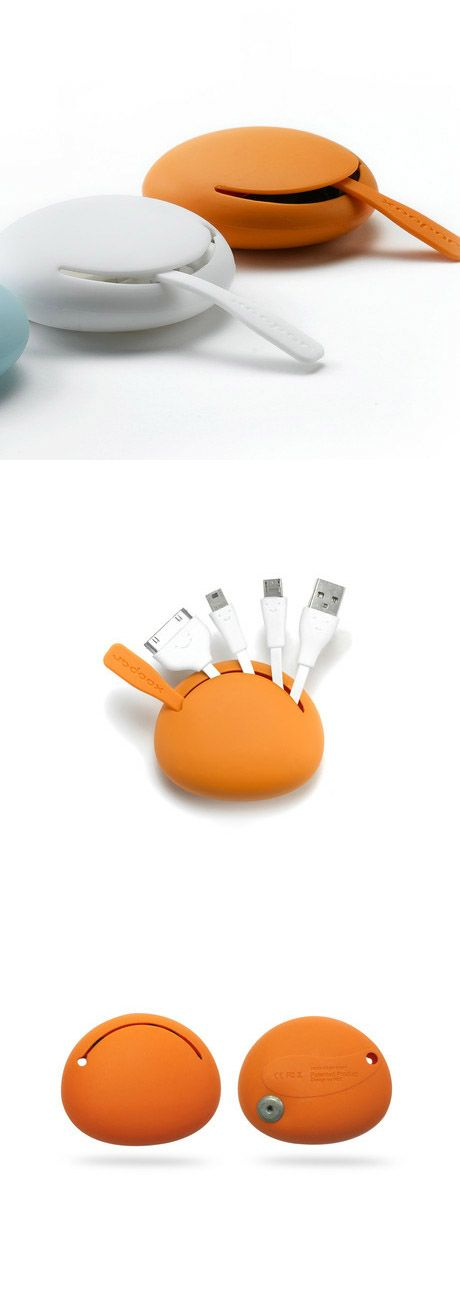 Spider Cable Orange  ::   multi USB adaptor.  mini USB, micro USB, and USB are connected all-in-one inside this cute orange contraption.  ( www.touchofmodern... )