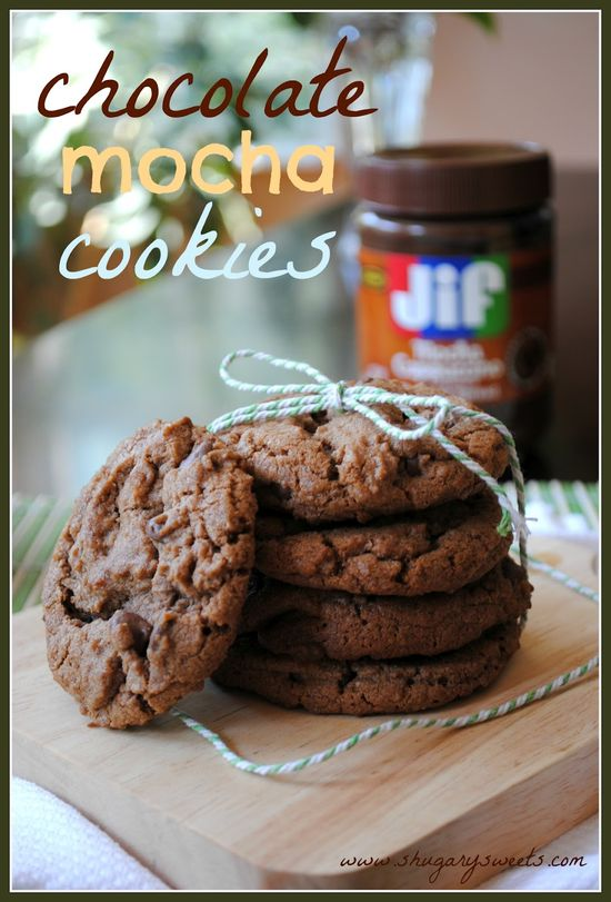 Chocolate Mocha and Nutella Cookies - Shugary Sweets
