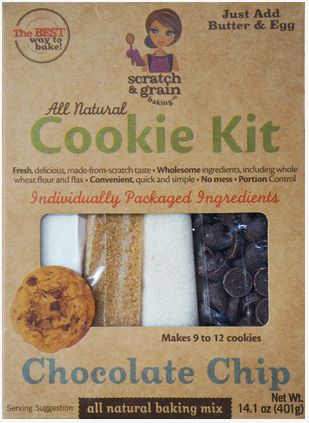 Love this convenient Cookie Kit - pre-made healthy dessert - #100healthygifts