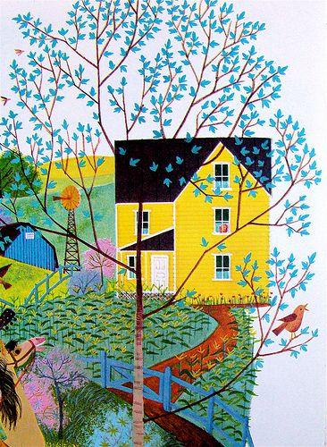 Farmhouse and tree