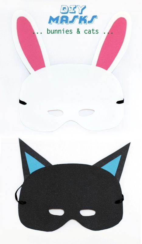 DIY Cute Kid's Animal Mask For Halloween