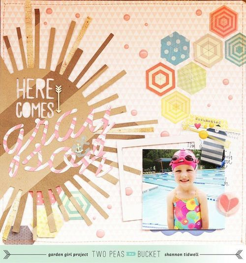#papercraft #scrapbook #layout image from www.twopeasinabuc...