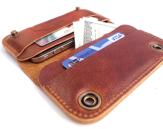 iPhone 4S case & wallet- soft brown leather. Grande collection - iPhone 4S cases - iPhone cases